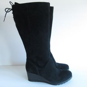 New UGG Dawna Wedge Boots Suede Waterproof Lace Up
